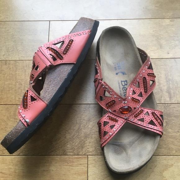 7d489a600586 Birkenstock Shoes - Betula by Birkenstock Slide Shoes Peach 38